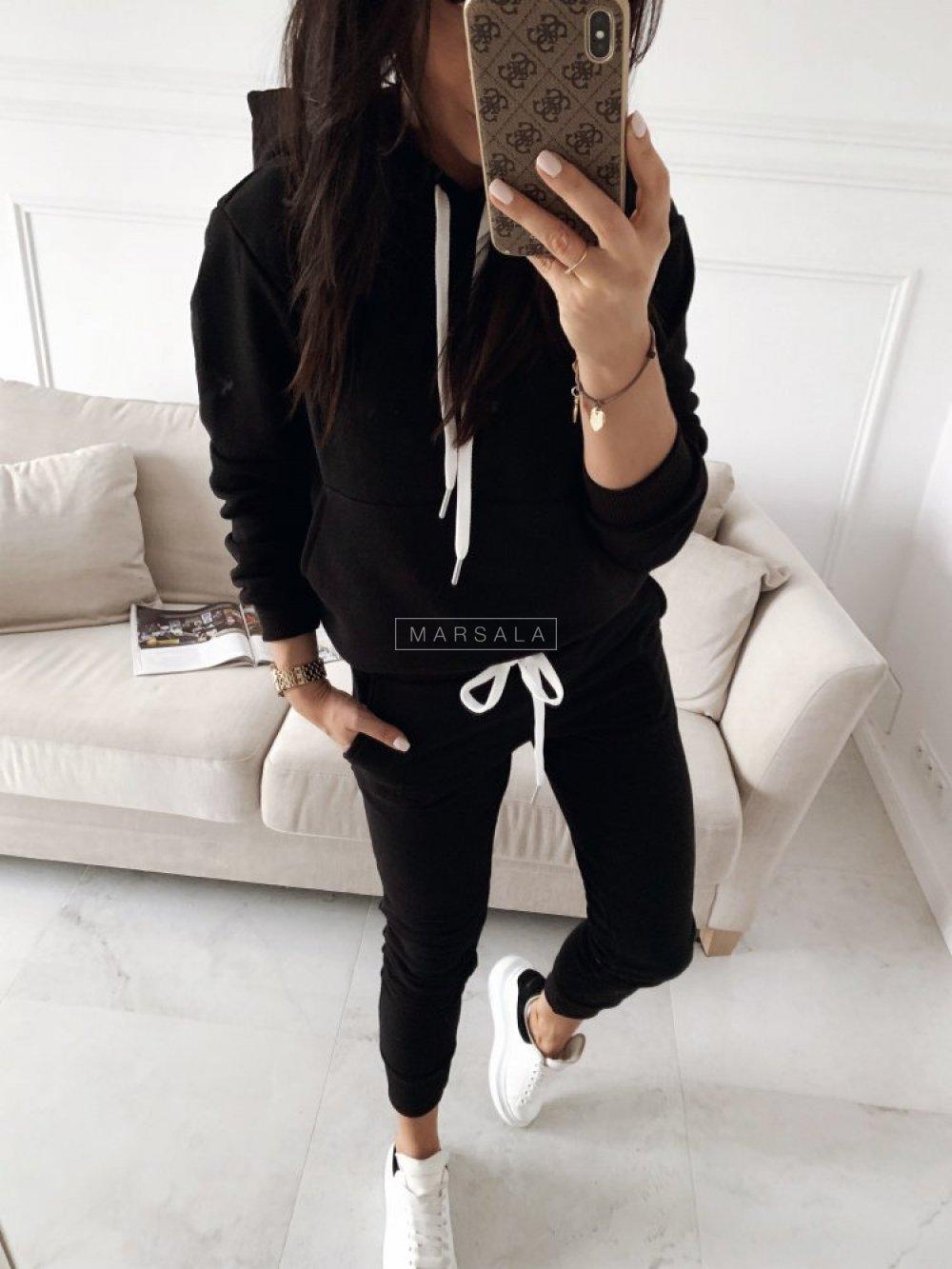 Sweatshirt + black trousers set - CASUAL BY MARSALA