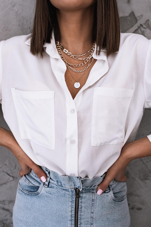 Smooth white shirt - PORTLAND WHITE by Marsala