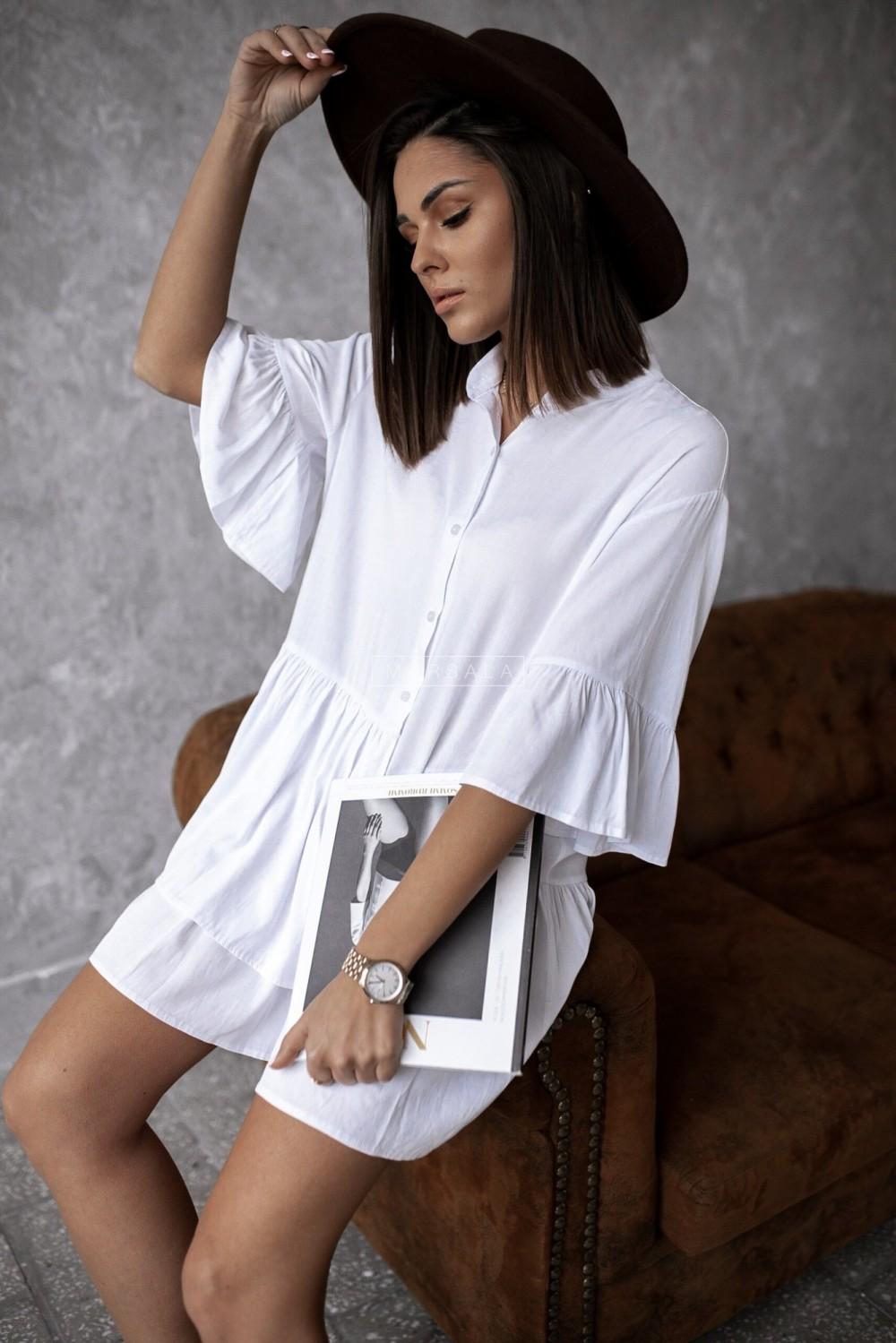 Shirt dress VIENNA white