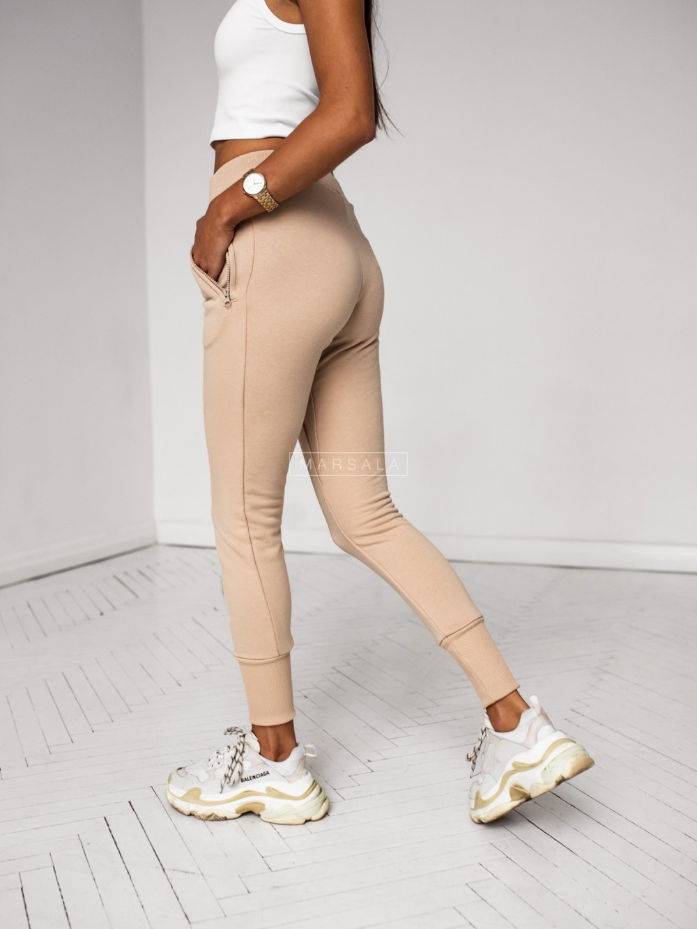 Beige tracksuit trousers - ACTIVE BY MARSALA