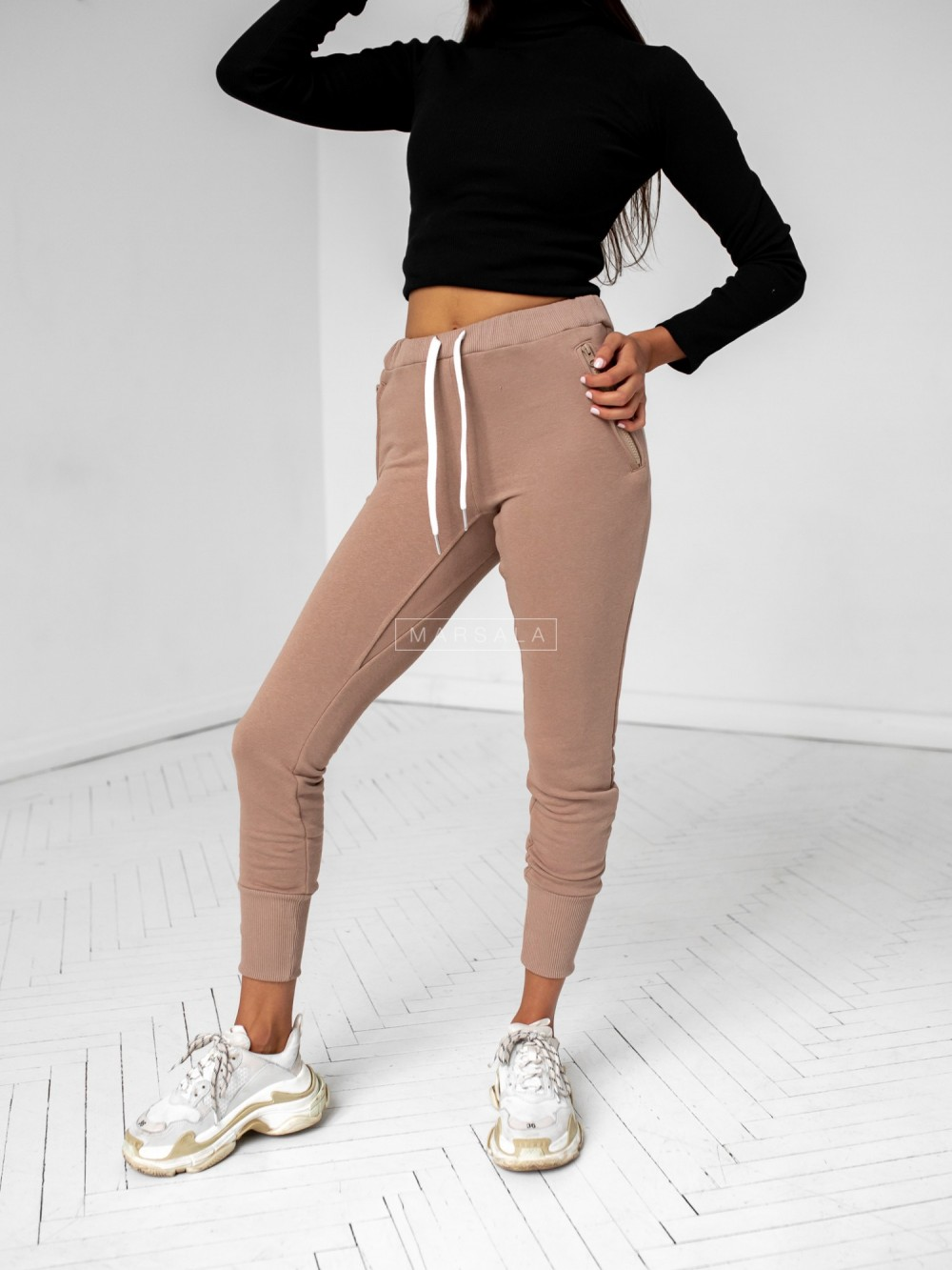 Mocca tracksuit trousers - ACTIVE BY MARSALA