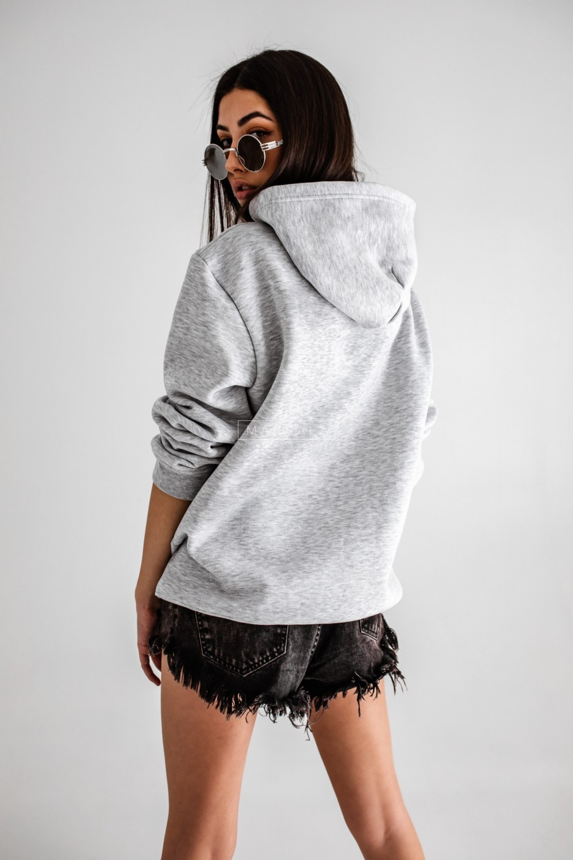 BASIC BY MARSALA hooded sweatshirt in grey