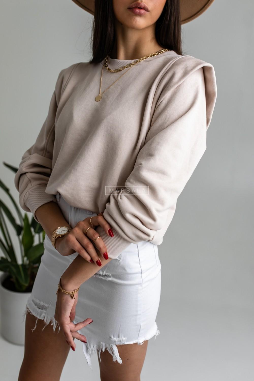 Sweatshirt in beige - GALAXY by Marsala