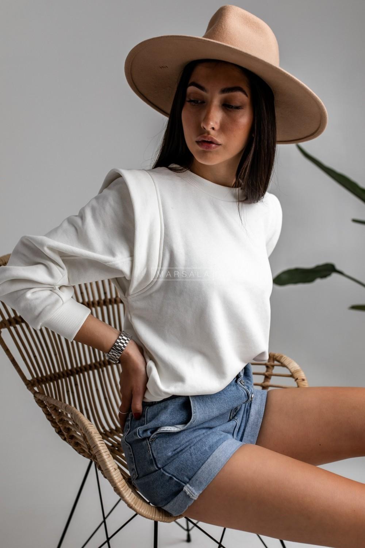 Sweatshirt in ecru - GALAXY by Marsala