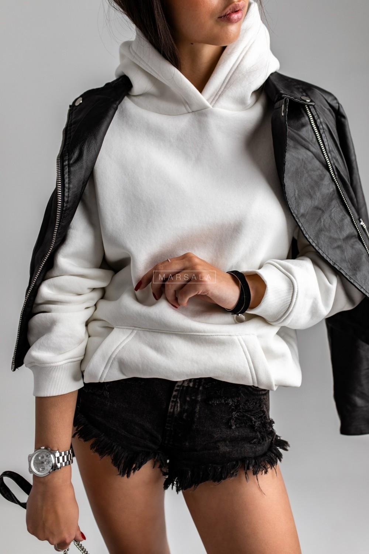 BASIC BY MARSALA hooded sweatshirt in ecru