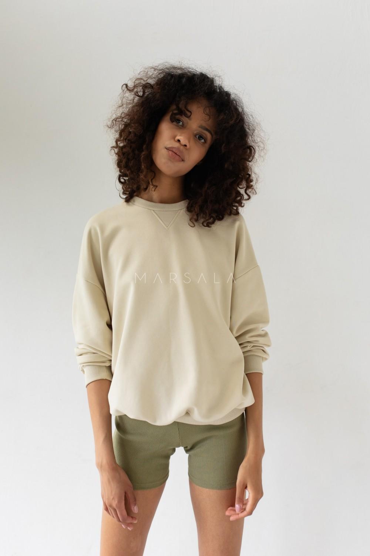 Bluza damska o kroju regular fit w kolorze CANNOLI CREAM - BASKET BY MARSALA