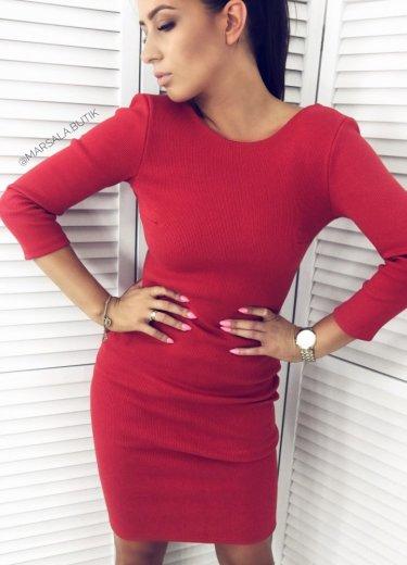 Sukienka KYLIE BACK - czerwona
