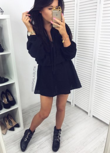 Sukienka VERONA - czarna