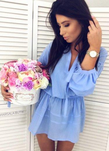 Sukienka VERONA - błękitna