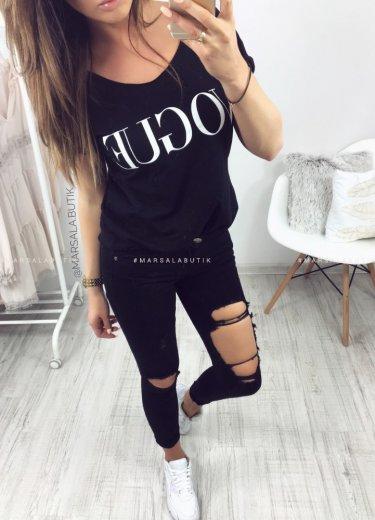 Spodnie HOLE - czarne