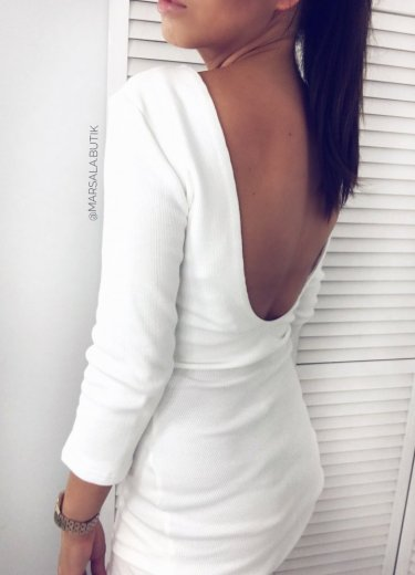 Sukienka KYLIE BACK - biała
