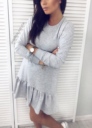 Sukienka RIVIA BASIC - szara