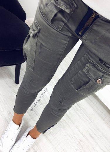 Spodnie BOJÓWKI - ciemny khaki