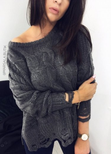 Sweter JELLY - ciemnoszary