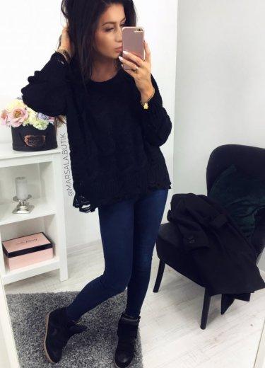 Sweter JELLY -  czarny