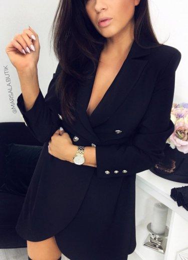 Sukienka żakietowa QUEEN - czarna