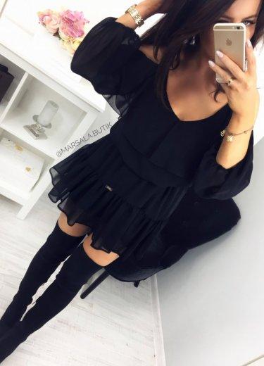 Sukienka BLUSH - czarna