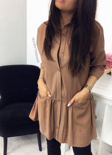 Sukienka NAPOLI - kamel
