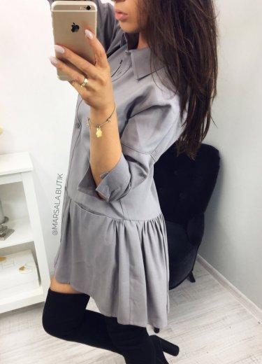 Sukienka NAPOLI - szara
