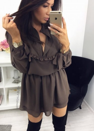 Sukienka LUIZA - mocca