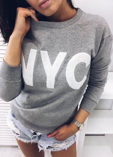 Bluza NYC - szara