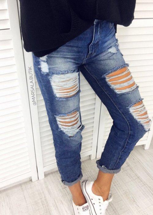 Spodnie BOYFRIEND CHERRY