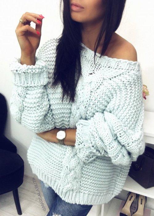 Sweter DIVA - mięta