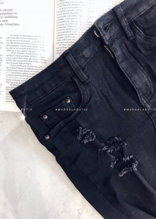 BANDIT black ragged skirt