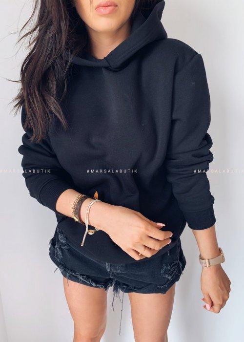 BASIC BY MARSALA hooded sweatshirt black