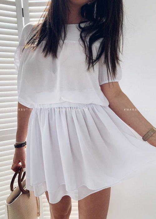 Set blouse + skirt BATH white