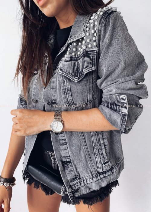 Studded jacket PRINCE grey