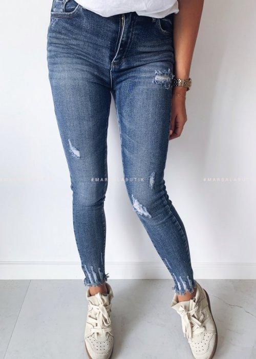 Ragged denim jeans SHADOW JEANS