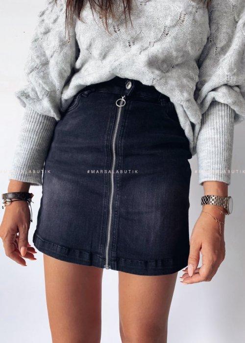 Skirt PEPPER denim mini black