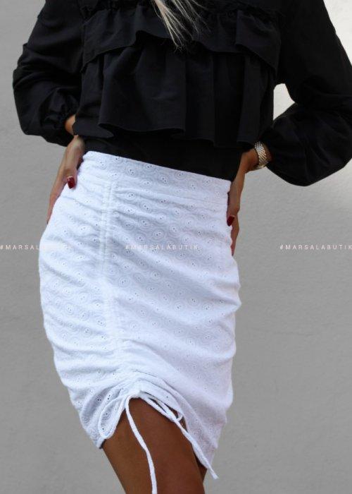 Spódnica biała ażurowa ASHLEY x Karolina
