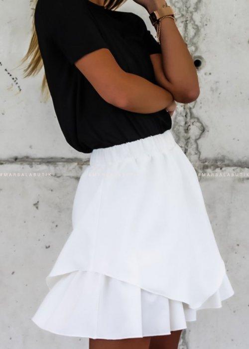 Spódniczka mini FRISCO BY MARSALA ecru x Karolina