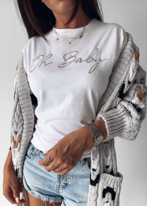 T-shirt white OH BABY