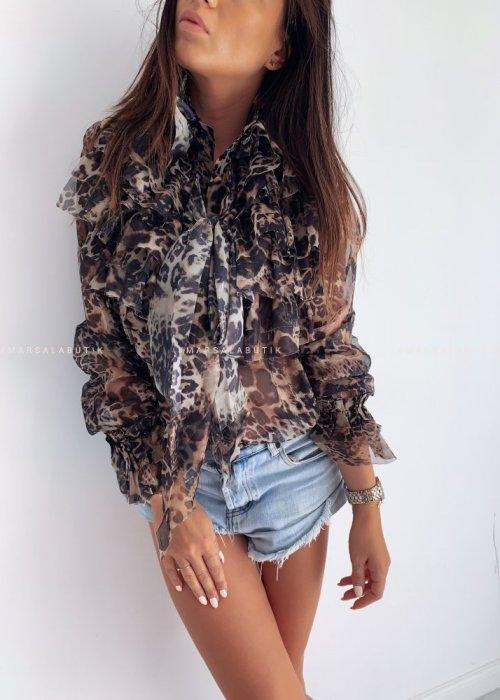 Chiffon leopard print CASSIE shirt