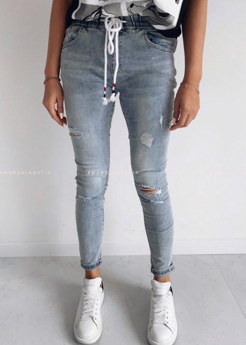 Spodnie jeansy z gumą - JAMES