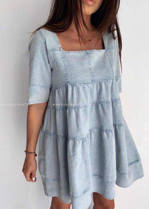 Sukienka jeansowa z falbankami MUSE by MARSALA