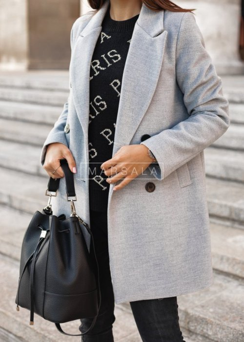 Long grey coat STYLISH BY MARSALA