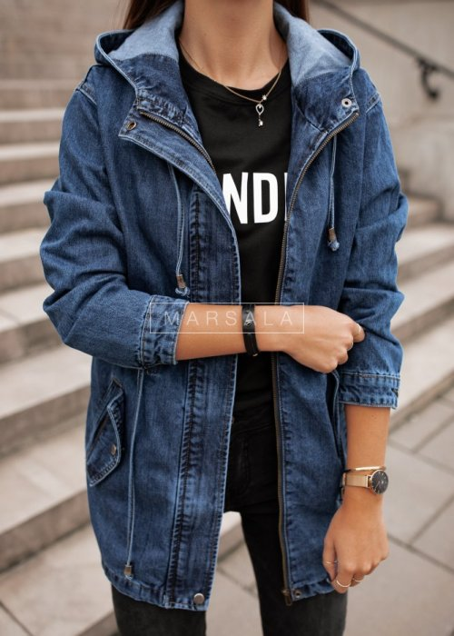 Hooded denim jacket - HIGH SCHOOL