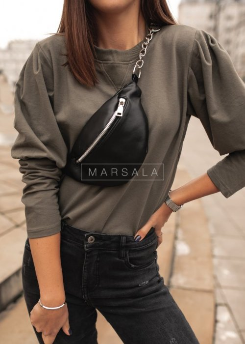 Khaki puff blouse - FEMALE by marsala