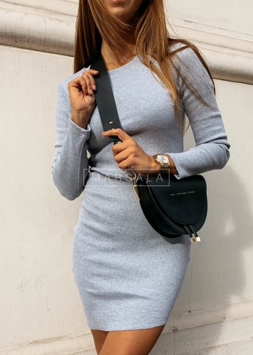 Fitted long sleeved dress in grey - PASSION BY MARSALA