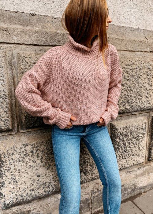 Turtleneck sweater in powder colour – WILLOW