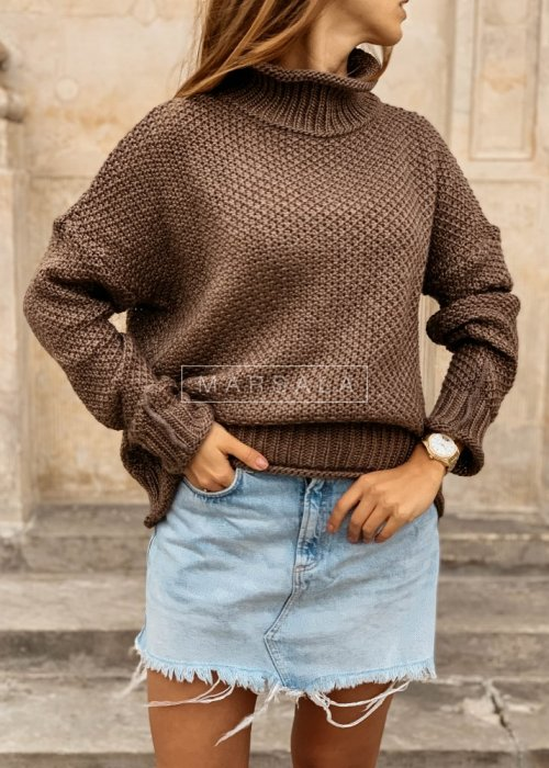 Turtleneck sweater in brown colour – WILLOW