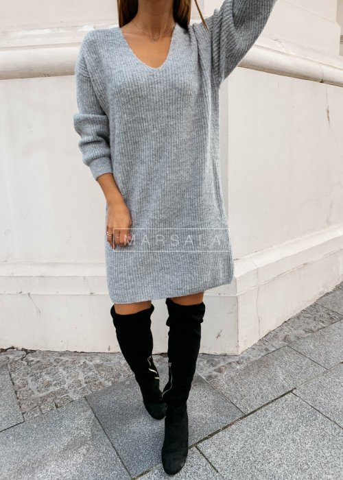 Grey tunic sweater MARLON