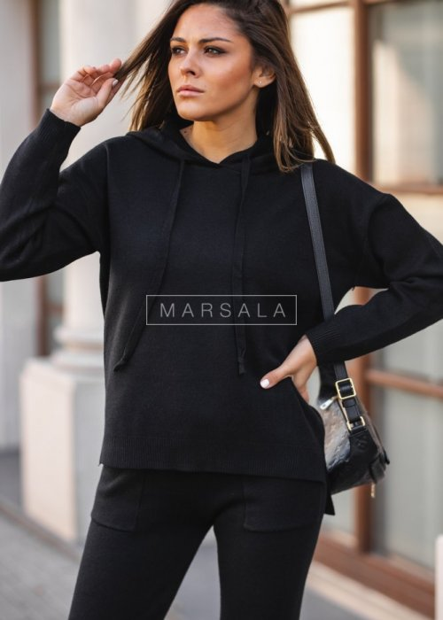 Sweater set in black – COLLIN
