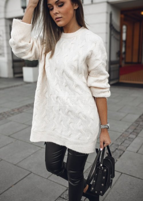 Oversized sweater made of soft, ecru fabric – SHEEP
