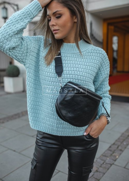Crew-neck mint sweater – DARCY