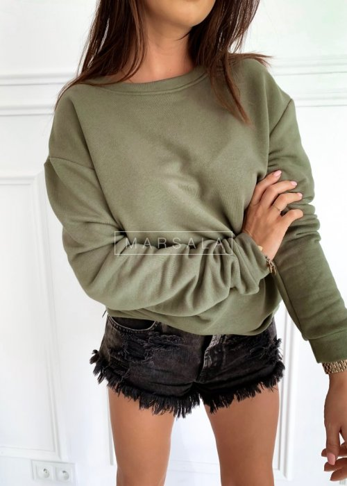 Basic khaki sweatshirt– REGULAR